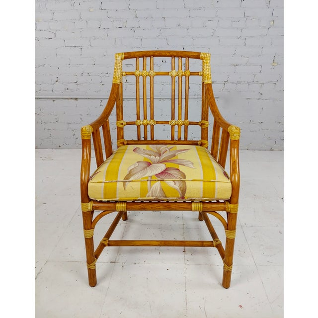 Wood Vintage McGuire Rattan Dining Chairs - Set of 4 For Sale - Image 7 of 11