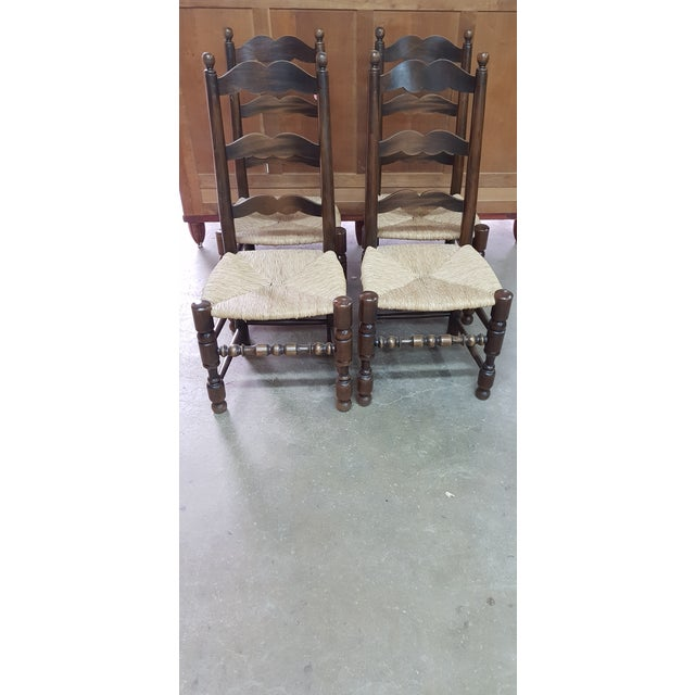 Brown 1900s Vintage Provencal Dining Chairs- Set of 4 For Sale - Image 8 of 10