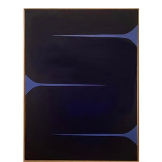 Contemporary Abstract Geometric Acrylic Gouache Painting by Brooks Burns, Framed For Sale