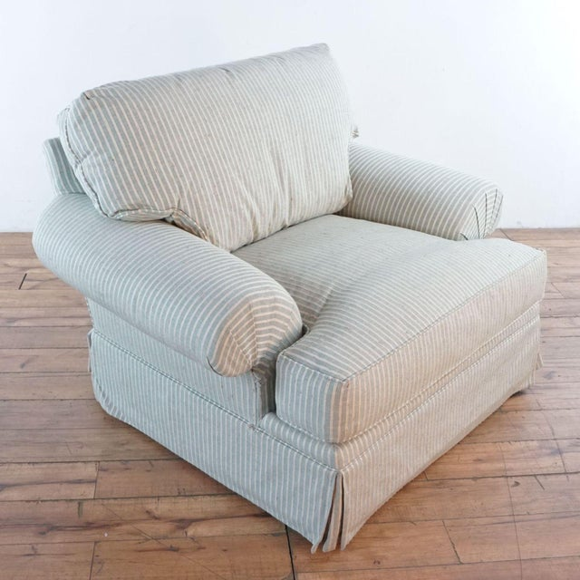 Michael Thomas Armchairs and Ottoman- 3 Pieces For Sale - Image 4 of 13