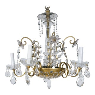 1930s French Baguès Chandelier For Sale