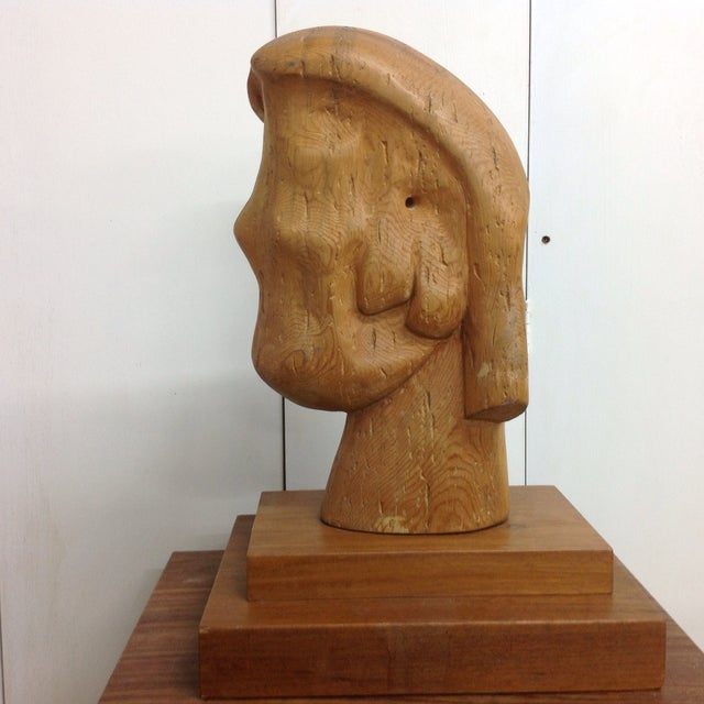Large Goldstein Sculpture 'Head With Two Faces' - Image 2 of 5