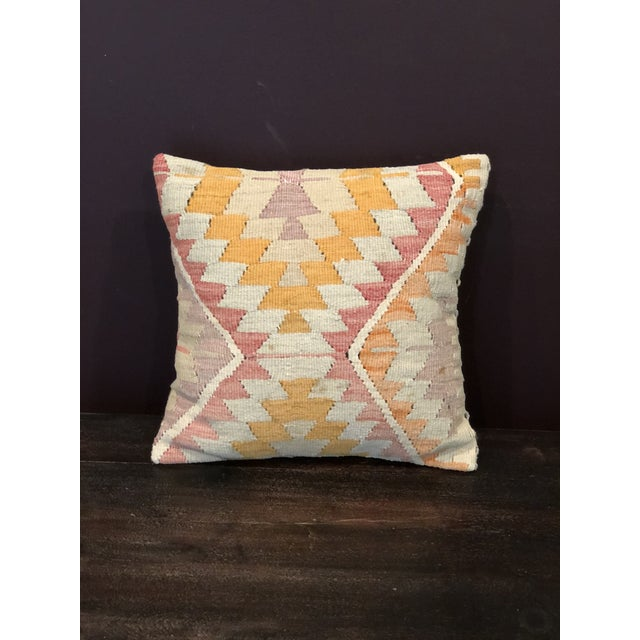 Antique Kilim Throw Pillow For Sale - Image 4 of 4