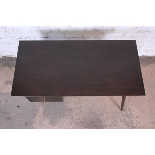 Black Paul McCobb Mid-Century Modern Planner Group Desk and Chair, Newly Restored For Sale - Image 8 of 13