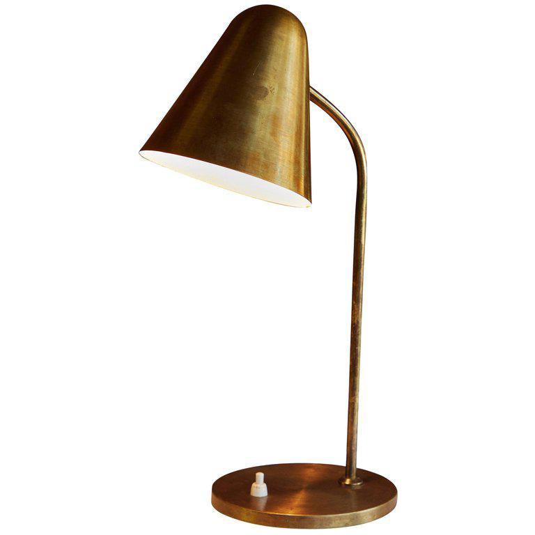 1950s Mid Century Modern Brass Table Lamp Chairish