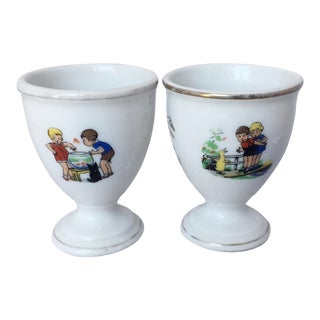 Vintage Mid-Century Egg Cups - A Pair For Sale