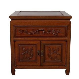 Vintage Chinese Carved Rosewood Nightstand