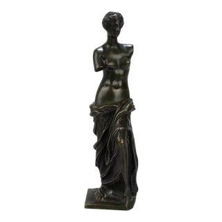 Cabinet Size Bronze Sculpture of Venus de Milo after Ron Liod Sauvage For Sale