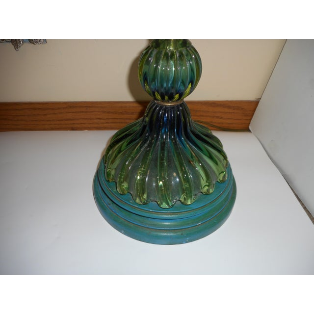 Murano Glass Lamp by Barovier Toso - Image 6 of 8