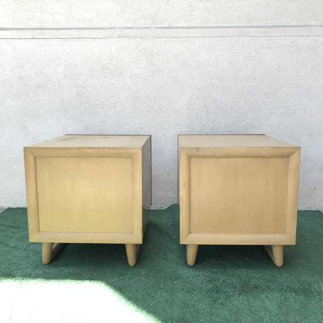 Grand Rapids Mid-Century 2 Drawer Nightstands - A Pair - Image 4 of 7