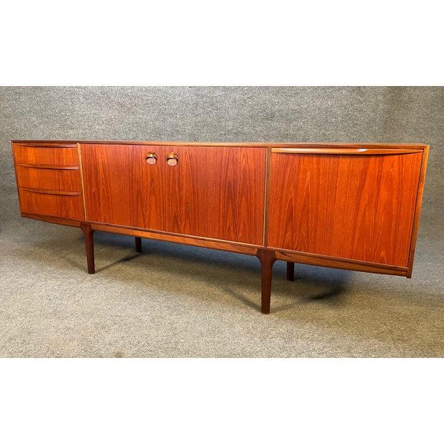 "1960s Vintage British Mid Century Modern Teak ""Dunottar"" Credenza by McIntosh For Sale - Image 5 of 12"