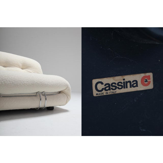Cassina 'Soriana' Pair of Lounge Chairs by Afra and Tobia Scarpa - 1970s For Sale - Image 10 of 11