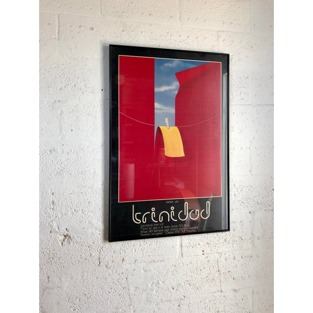 Contemporary Vintage 1970s Framed German Art Exhibit Poster For Sale - Image 3 of 9