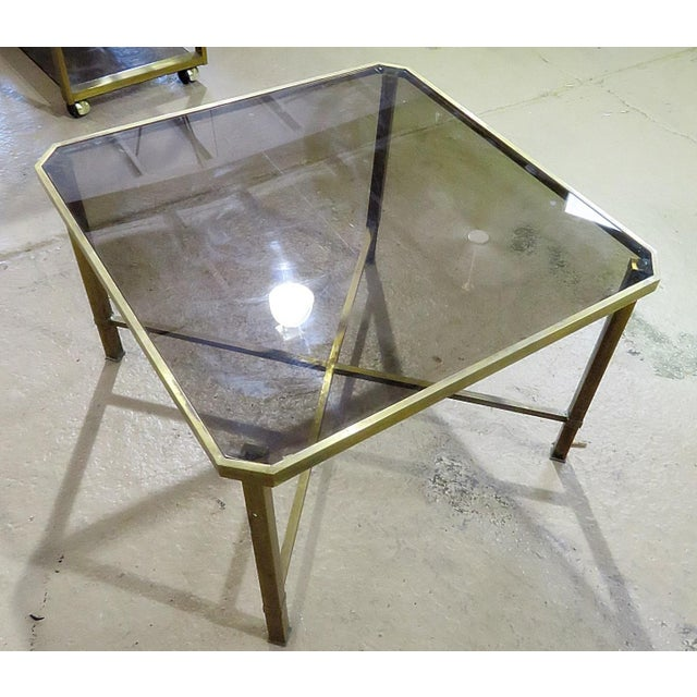 Italian Modern Glass Top Coffee Table For Sale - Image 10 of 11