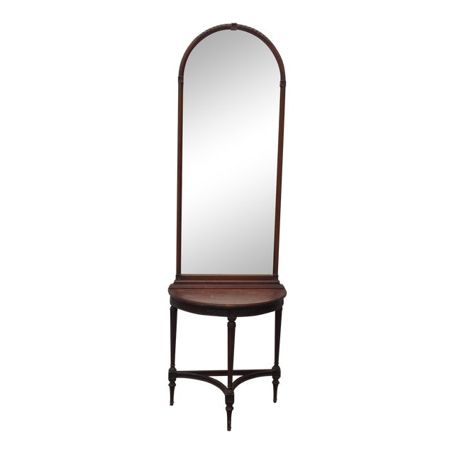 Imperial Mahogany Console Table with Mirror - Image 1 of 9