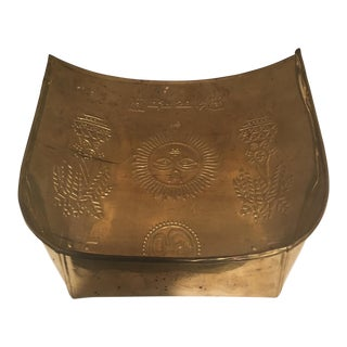 Etched Indian Brass Tray For Sale