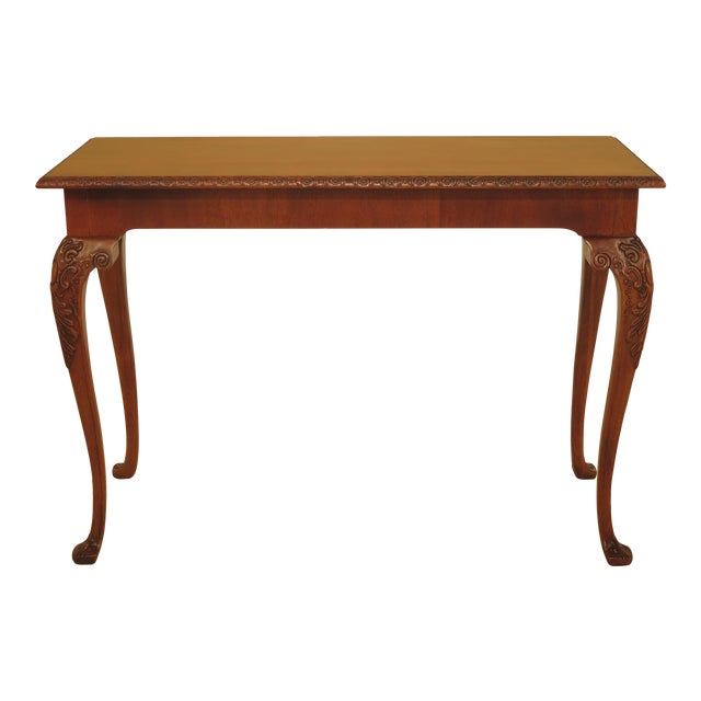 Wellington Hall Georgian Style Carved Mahogany Console Table - Image 1 of 11