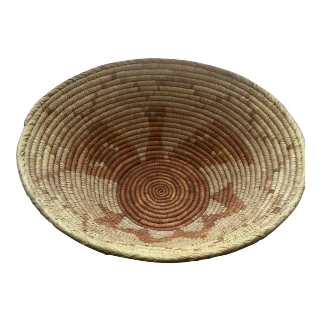 Vintage Native American Apache Pima Coil Basket - Image 1 of 11