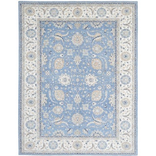 21st Century Tabriz Hand-Knotted Rug - 9′1″ × 11′9″ For Sale