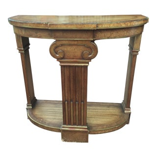 Demilune Greek Pillar Motif Side Table