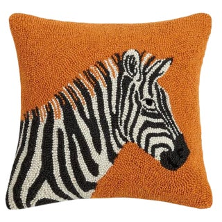 Zebra Hook Pillow For Sale