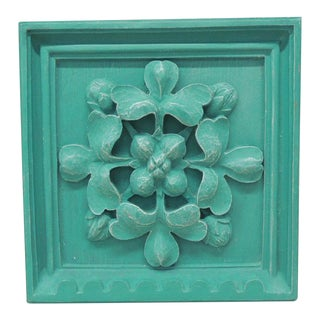 Green Square Garden Decorative Wall Plaque. For Sale