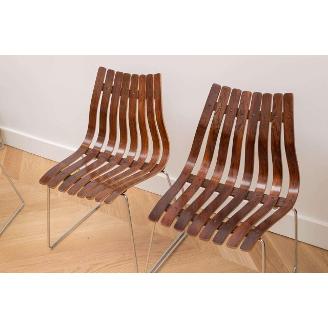 Mid-Century Modern Hans Brattrud Rosewood Chairs - Set of 4 For Sale - Image 3 of 8