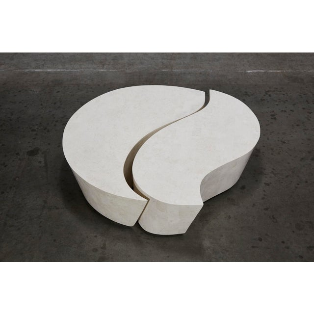 """Contemporary 1990s Contemporary Freeform White Stone Two Part """"Hampton"""" Coffee Table For Sale - Image 3 of 13"""