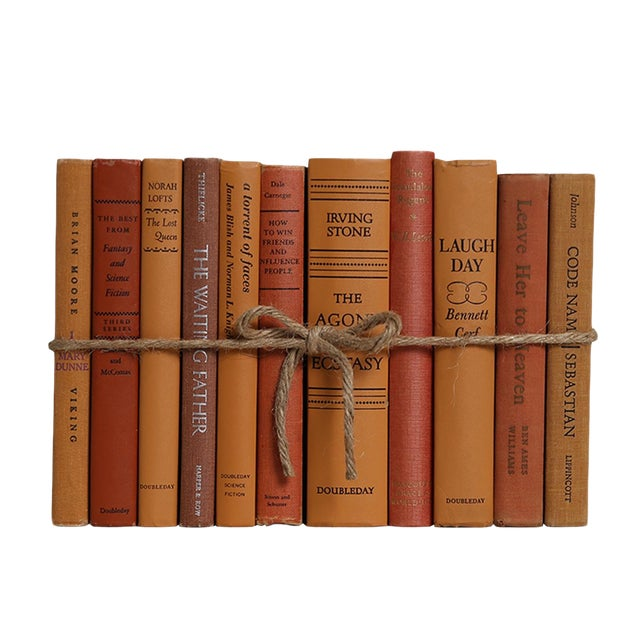 Midcentury Canyon ColorPak : Decorative Books in Shades of Orangish Brown For Sale