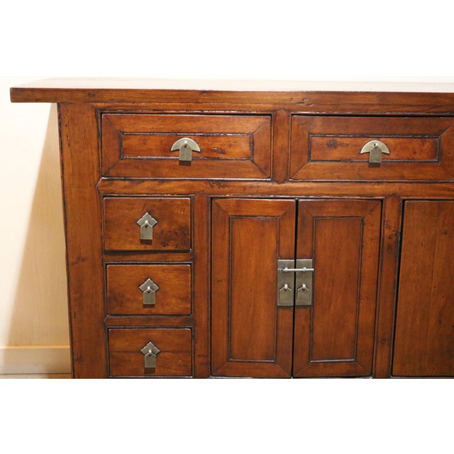 Up for sale is a 19th Century Walnut sideboard from Gansu Province China