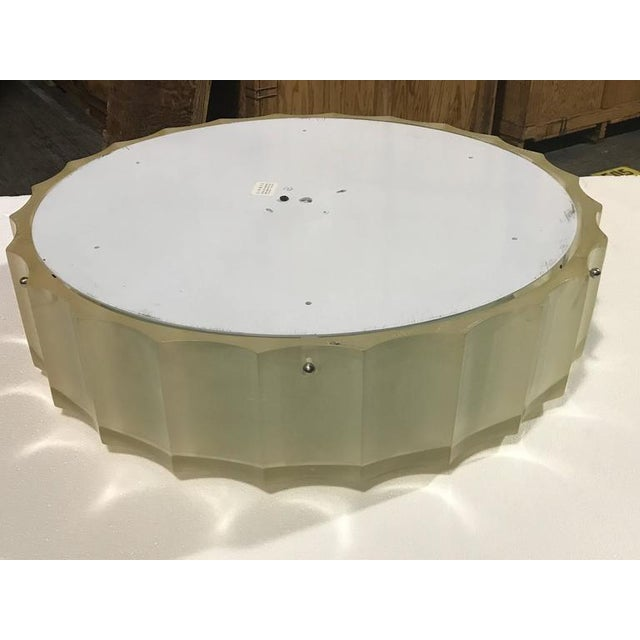 Silver Large-Scale Lucite and Glass Flush Mount by Sirmos For Sale - Image 8 of 10