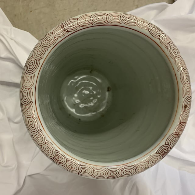 Paint Vintage Gold Imari Umbrella Stand Vase For Sale - Image 7 of 11