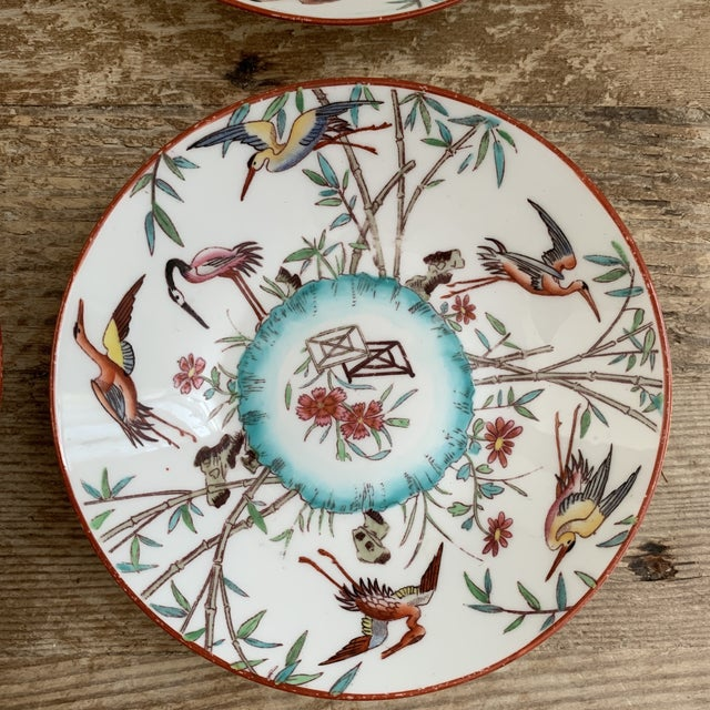 Chinoiserie Antique English Minton Appetizer Bowls Trinket Dishes - Set of 4 For Sale - Image 3 of 7