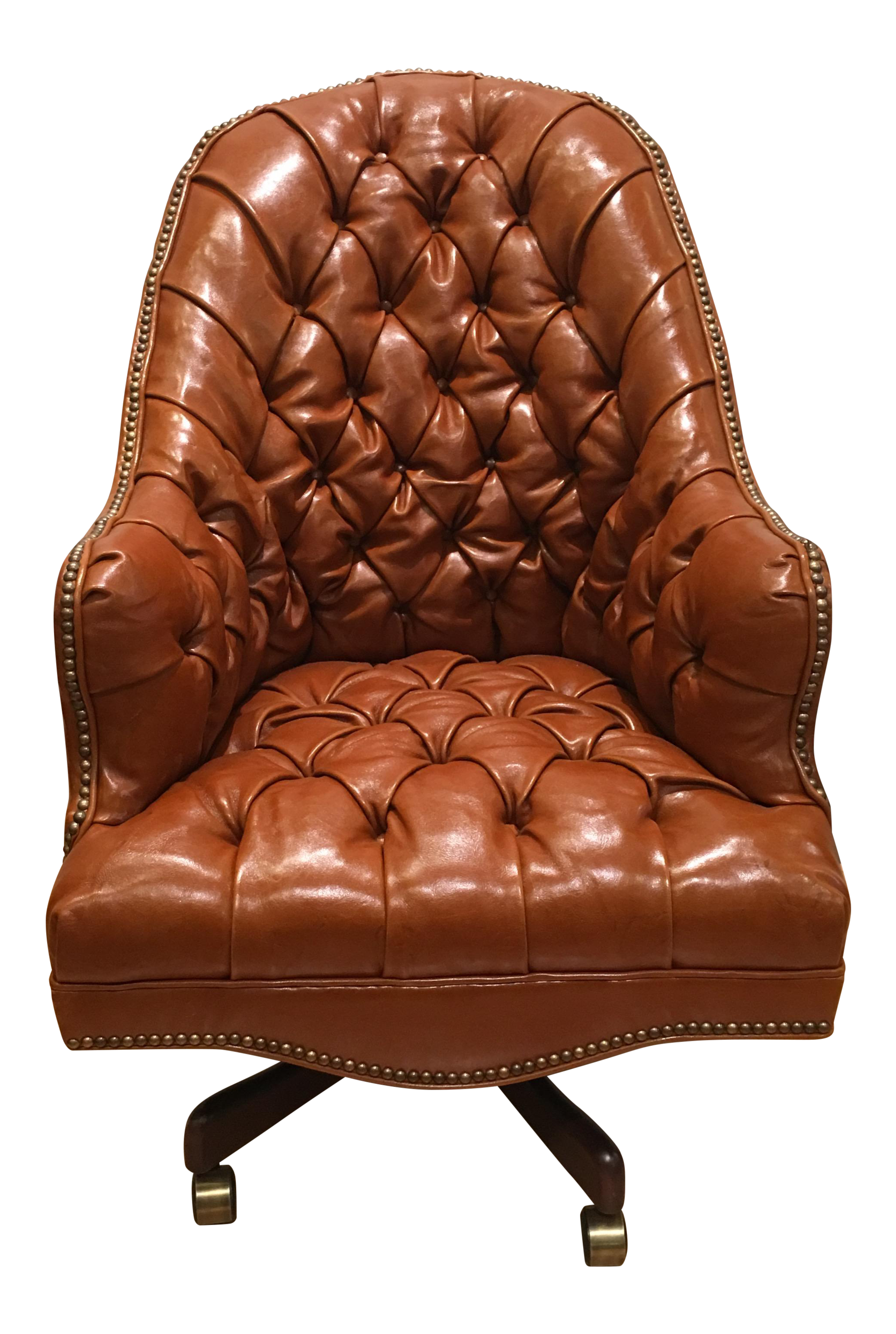 Old Hickory Tannery Leather Chesterfield Desk Chair - Image 1 of 5  sc 1 st  Decaso & Excellent Old Hickory Tannery Leather Chesterfield Desk Chair | DECASO