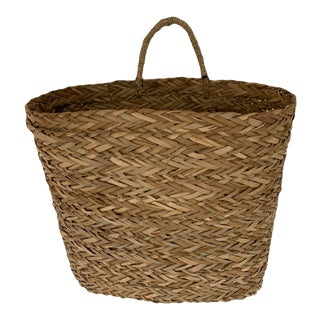 Hand-Woven Hanging Basket For Sale