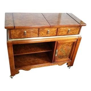 Vintage Bassett Furniture Rolling Sideboard