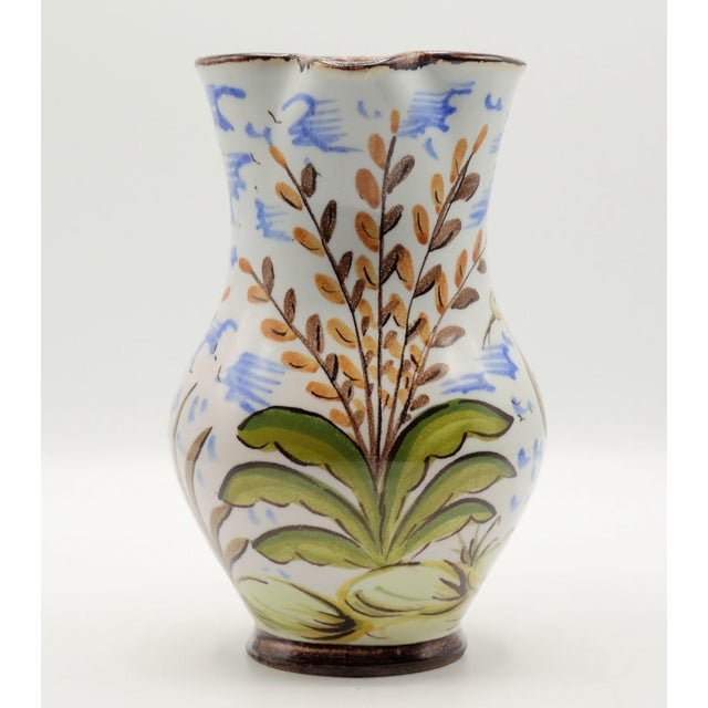 French French Faience Pitcher With Bird For Sale - Image 3 of 7
