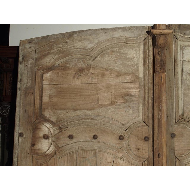 These elegant French oak doors from Burgundy are from the 18th century, and most likely, the Regence Period. The upper...