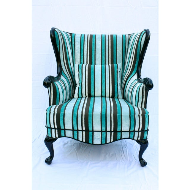 Vintage Round Wing Back Chair - Image 2 of 7