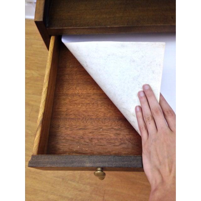 Drexel John Van Koert Roll Top Desk & Chair - Image 7 of 9