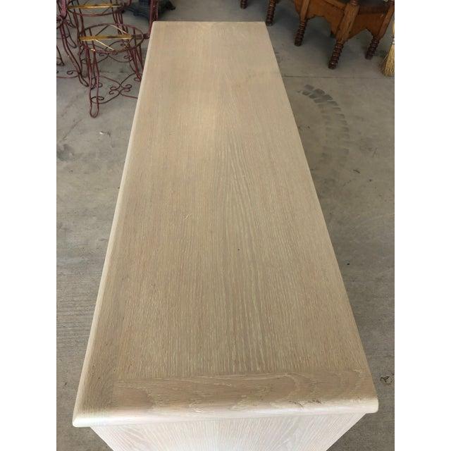 Modern Cerused Oak Credenza For Sale - Image 6 of 9
