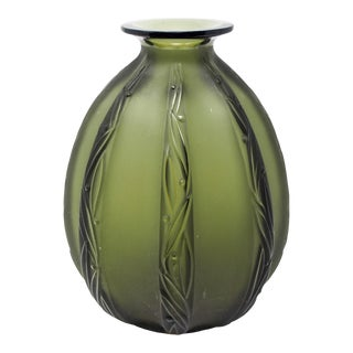 Mid-Century Sabino Glass Vase For Sale