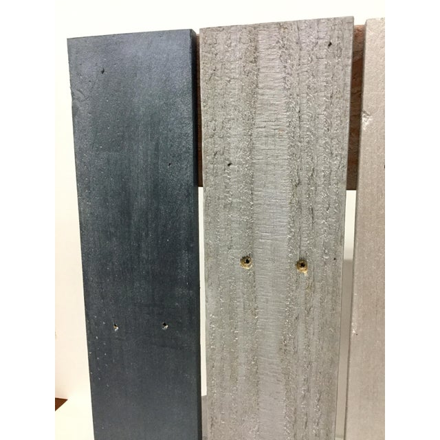 Industrial Reclaimed Hardwood Meditation Table For Sale - Image 9 of 13