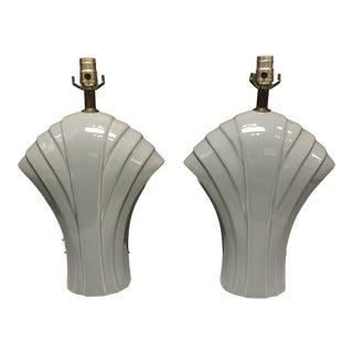 Vintage Art Deco Style Ceramic Lamps - a Pair For Sale