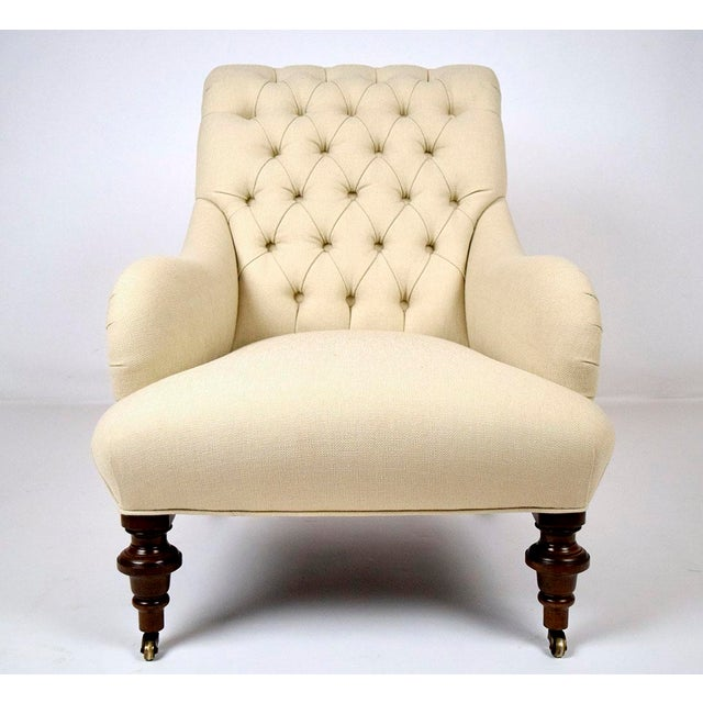 Continental-Style Tufted Bergeres - A Pair - Image 5 of 11