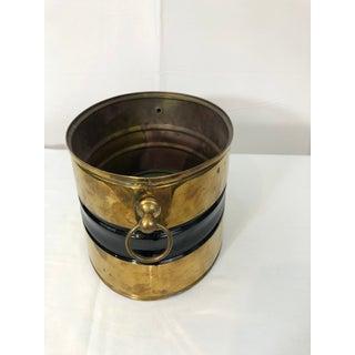 Vintage Oval Brass & Black Planter Decor Piece Preview
