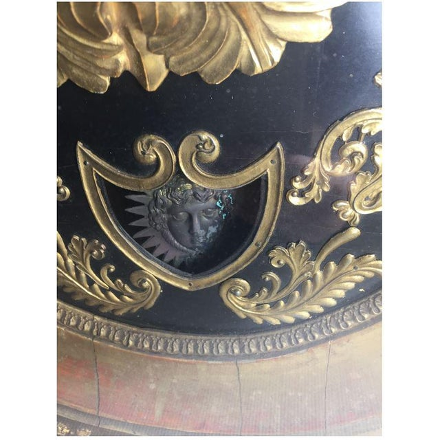 19th Century French Gilt Wall Clock in Shadow Box For Sale - Image 6 of 13