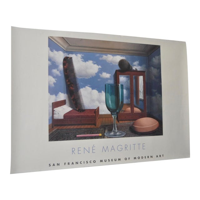 C.2000 Rene Magritte Exhibition Poster San Francisco Museum of Modern Art For Sale