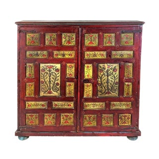 Mid 19th Century Northern European Gesso Painted Cupboard For Sale