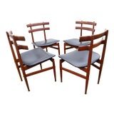 Image of 1960s Vintage Poul Hundevad Number 30 Dining Chairs- Set of 4 For Sale